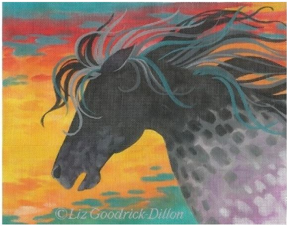 click here to view larger image of Fire Horse (hand painted canvases)