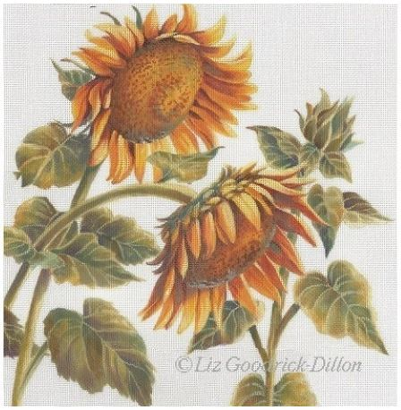 click here to view larger image of Sunflowers (hand painted canvases)