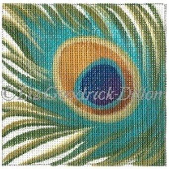 click here to view larger image of Peacock Feather (hand painted canvases)