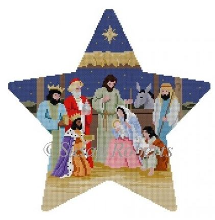 click here to view larger image of Star Tree Topper Nativity (hand painted canvases)