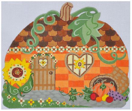click here to view larger image of Pumpkin (hand painted canvases)
