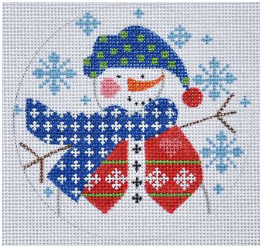 click here to view larger image of Snowman with Vest (hand painted canvases)