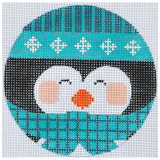 click here to view larger image of Blue Penguin Ornament (hand painted canvases)