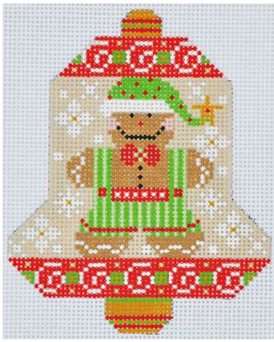 click here to view larger image of Gingerbread Bell (hand painted canvases)