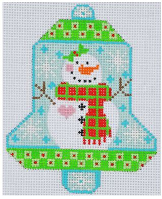 click here to view larger image of Snowman with Scarf Bell (hand painted canvases)