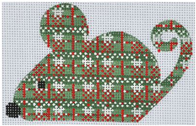 click here to view larger image of Christmas Mouse (hand painted canvases)