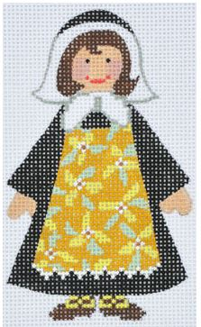 click here to view larger image of Pilgrim Girl (hand painted canvases)