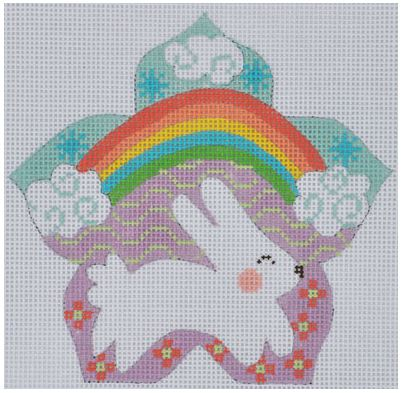click here to view larger image of Bunny with Rainbow (hand painted canvases)