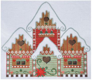 click here to view larger image of Holiday Bird House (hand painted canvases)