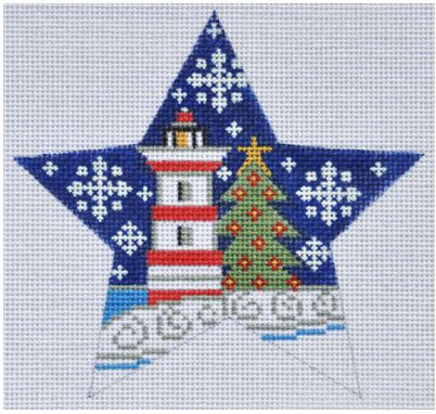 click here to view larger image of Light House Star (hand painted canvases)