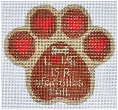 click here to view larger image of Love is a Wagging Tail (hand painted canvases)