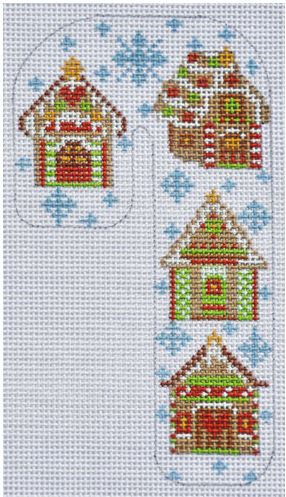 click here to view larger image of Gingerbread House Candy Cane (hand painted canvases)