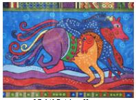 click here to view larger image of Rainbow Horses (hand painted canvases)