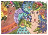 click here to view larger image of Blossoming Women (hand painted canvases)