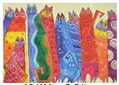 click here to view larger image of Santa Fe Felines (hand painted canvases)