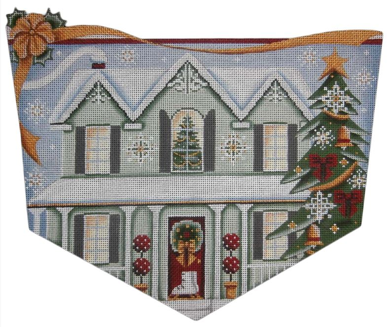 click here to view larger image of Green House Christmas (hand painted canvases)