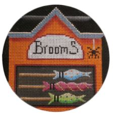 click here to view larger image of Brooms (hand painted canvases)