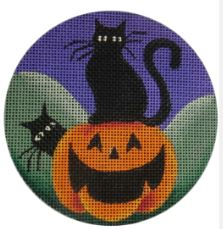 click here to view larger image of Black Cats (hand painted canvases)