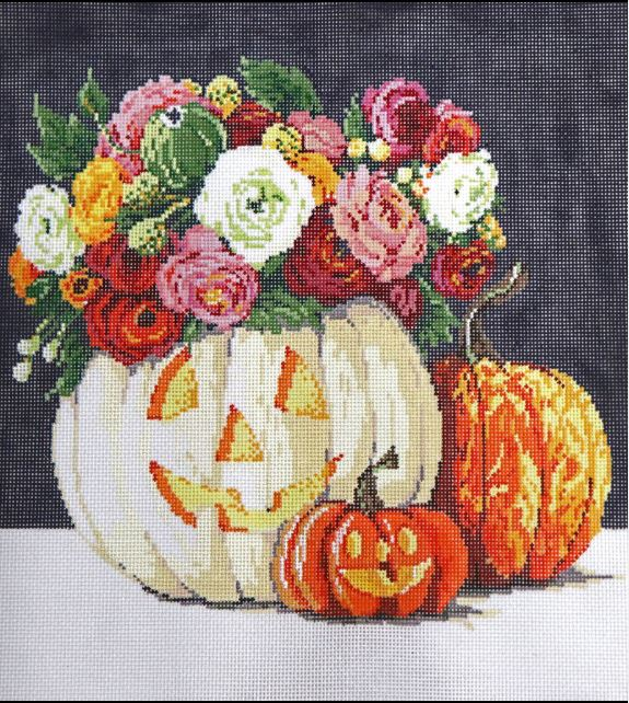 click here to view larger image of Pretty Pumpkins (hand painted canvases)
