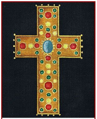 click here to view larger image of Medici Cross (hand painted canvases)