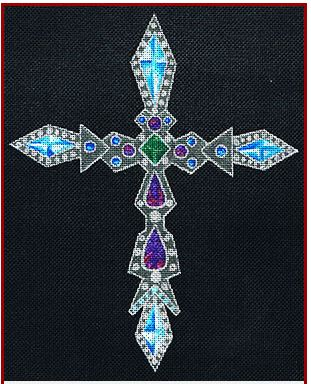 click here to view larger image of Crusader's Cross (hand painted canvases)