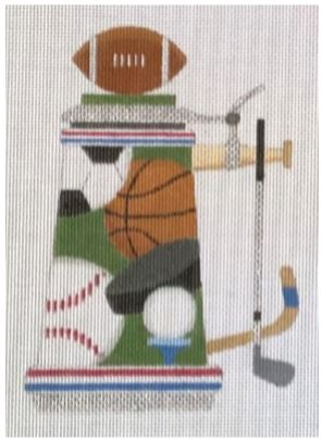 click here to view larger image of Sports Stein (hand painted canvases)