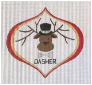 click here to view larger image of Dasher (hand painted canvases)