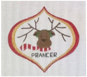 click here to view larger image of Prancer (hand painted canvases)