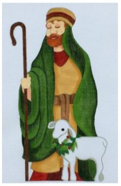 click here to view larger image of Standing Shepherd (hand painted canvases)