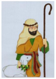 click here to view larger image of Kneeling Shepherd (hand painted canvases)