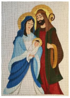 click here to view larger image of Small Holy Family (hand painted canvases)