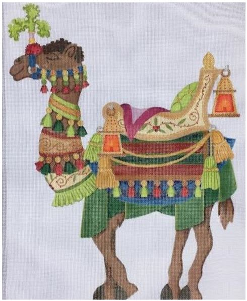 click here to view larger image of Small Standing Camel (hand painted canvases)