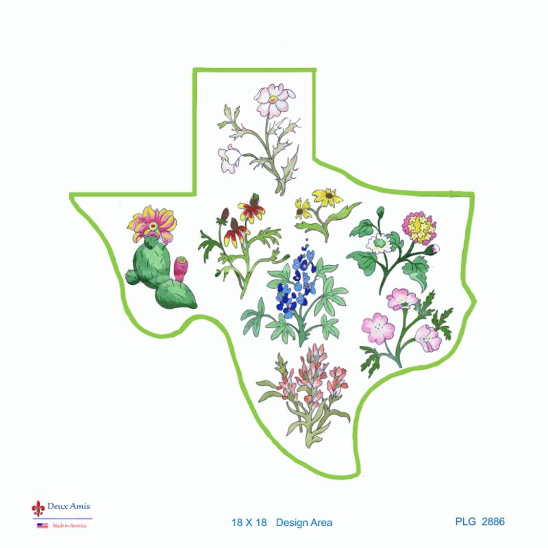 click here to view larger image of State of Texas Wildflowers (18M) (hand painted canvases)