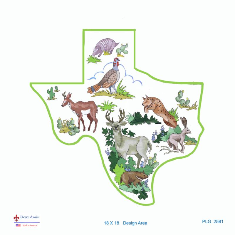 click here to view larger image of State of Texas Wildlife (18M) (hand painted canvases)