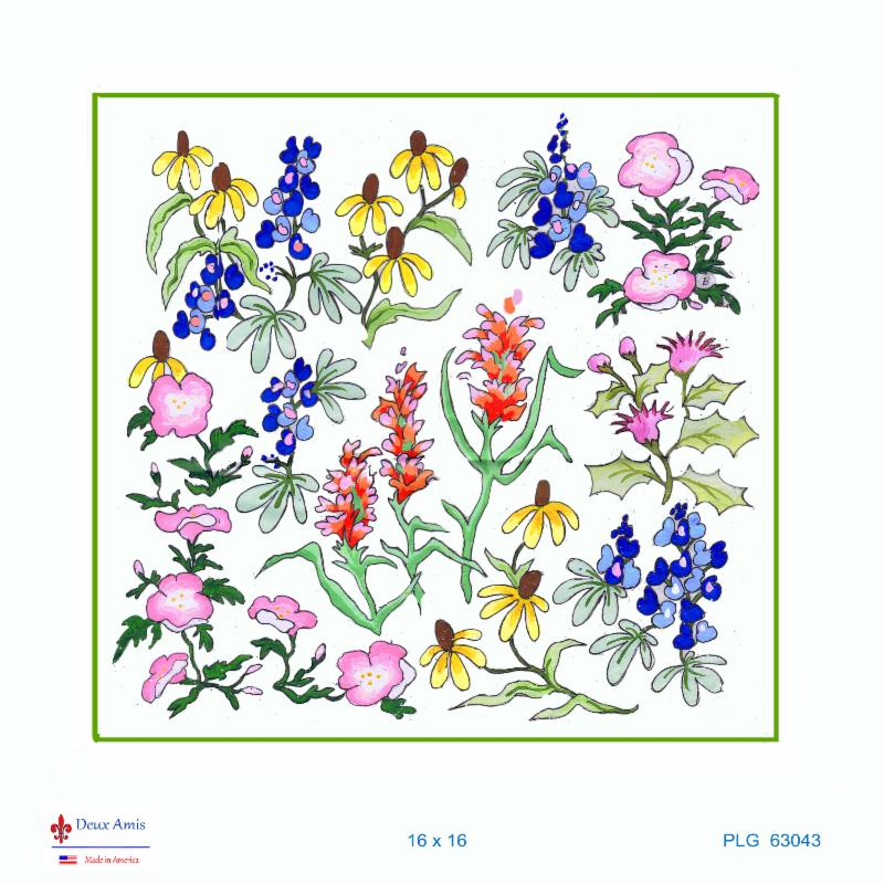 click here to view larger image of Texas Wildflowers Sampler (18M) (hand painted canvases)