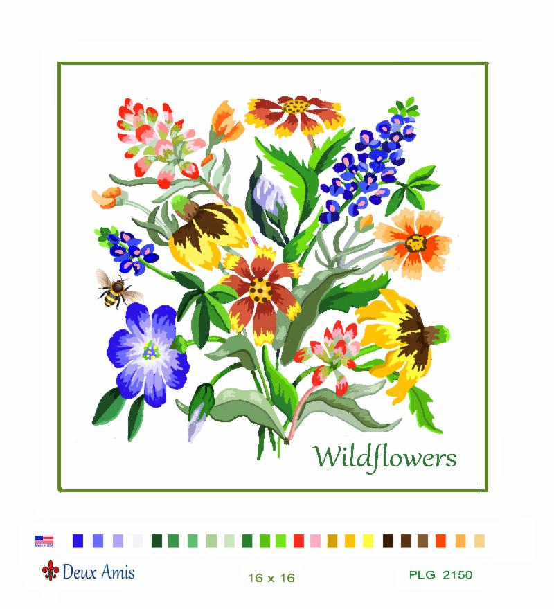 click here to view larger image of Texas Wildflowers (13M) (hand painted canvases)