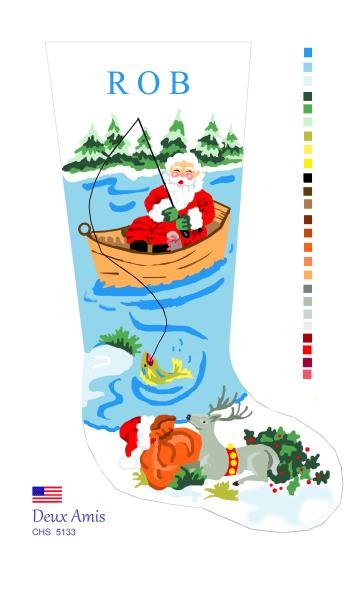 click here to view larger image of Fishing Santa - 18M (None Selected)