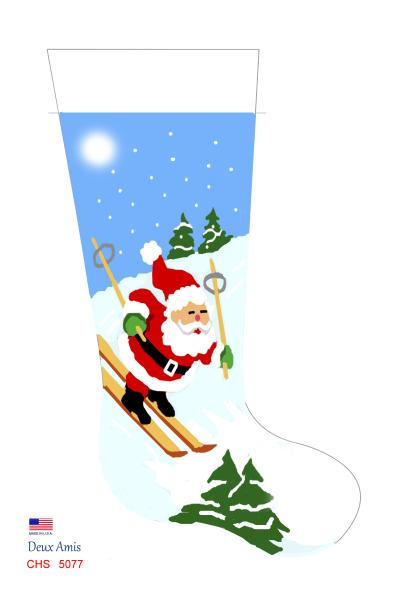 click here to view larger image of Skiing Santa - 18M (None Selected)