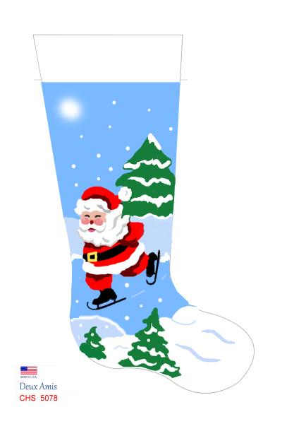 click here to view larger image of Skating Santa - 18M (None Selected)