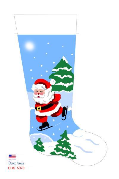 click here to view larger image of Skating Santa - 13M (None Selected)