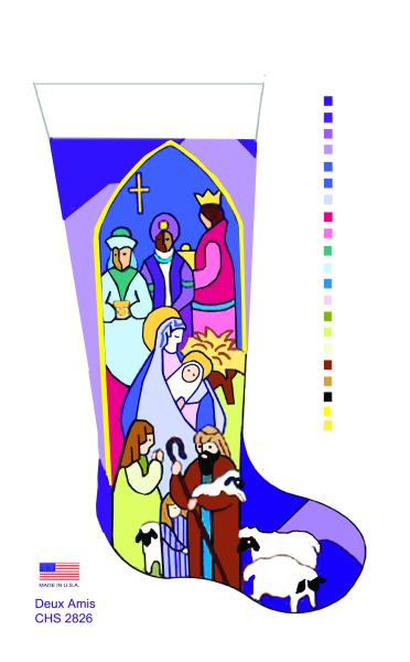 click here to view larger image of Stained Glass 3 Kings - 18M (None Selected)