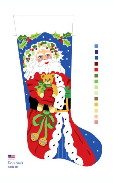 click here to view larger image of Santa & Teddy - 13M (None Selected)
