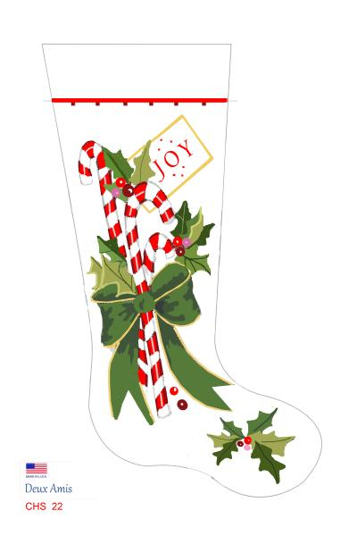 click here to view larger image of Candy Canes & Bow - 18M (None Selected)