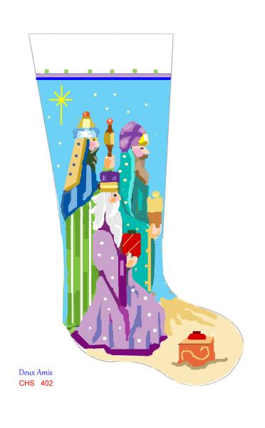 click here to view larger image of Three Kings & Gifts - 13M (hand painted canvases)