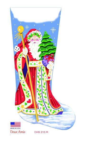 click here to view larger image of Red Scandinavian Santa - 18M (hand painted canvases)