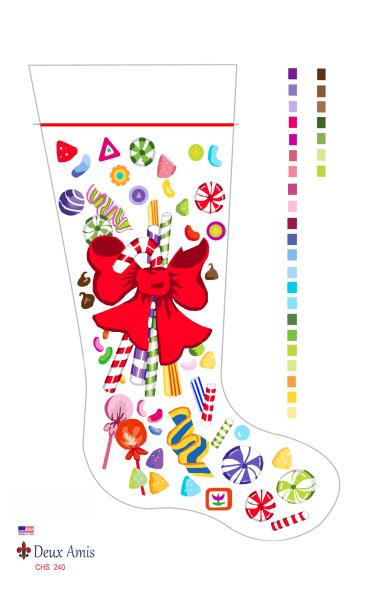 click here to view larger image of Holiday Candies - 18M (hand painted canvases)