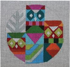 Owl Ornament hand painted canvases