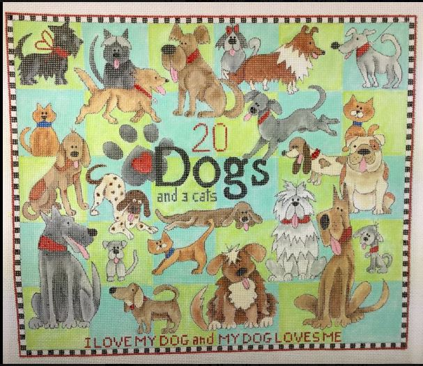 click here to view larger image of 20 Dogs and 3 Cats (hand painted canvases)