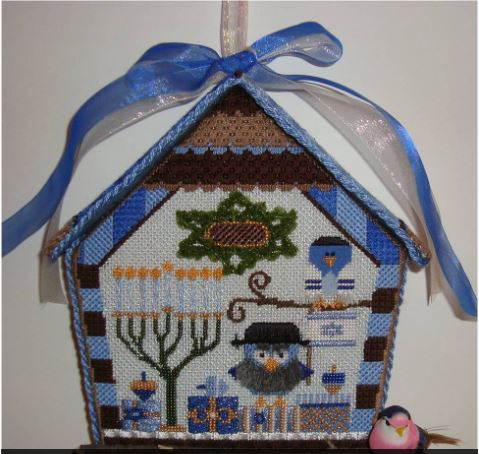 click here to view larger image of Chanukah Birdhouse Ornament (hand painted canvases)