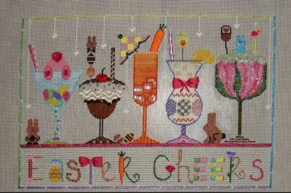 click here to view larger image of Easter Cheers (hand painted canvases)